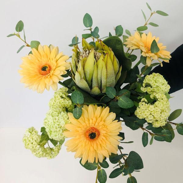 Billede af Evighedsbuket med gerbera og protea
